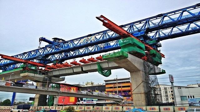 งานส่วนประกอบโครงสร้างรถไฟฟ้า เหล็กโครงสร้าง