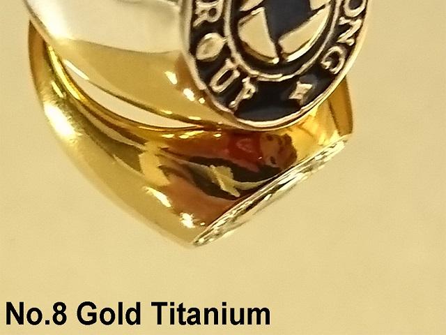 No.8 Gold Titanium